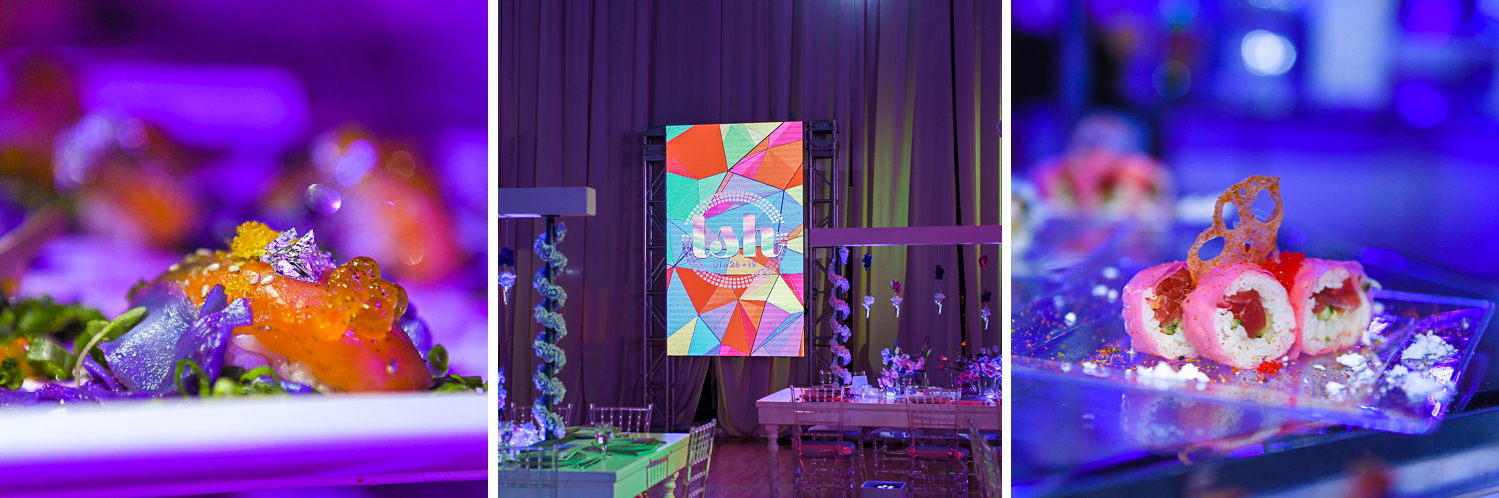 decor and catering at Gymnastics Theme Bat Mitzvah Photography at Xtreme Action Park by Domino Arts
