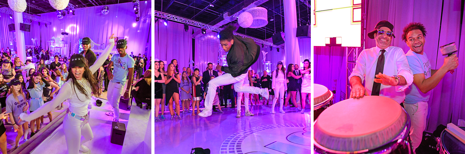 best entertainers rock with u at Gymnastics Theme Bat Mitzvah Photography at Xtreme Action Park by Domino Arts