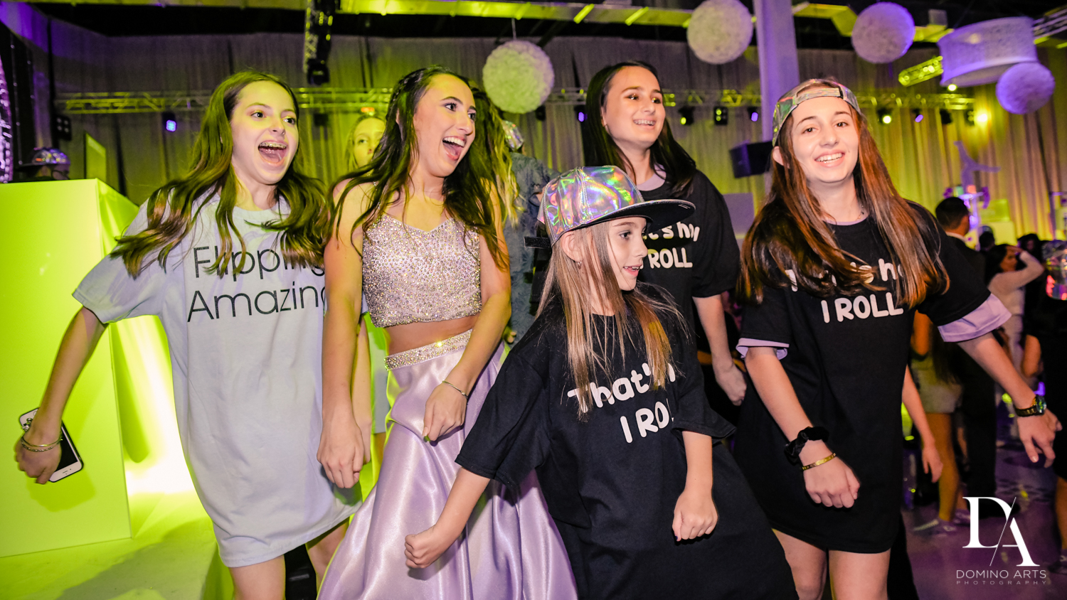 dancing pictures at Gymnastics Theme Bat Mitzvah at Xtreme Action Park by Domino Arts