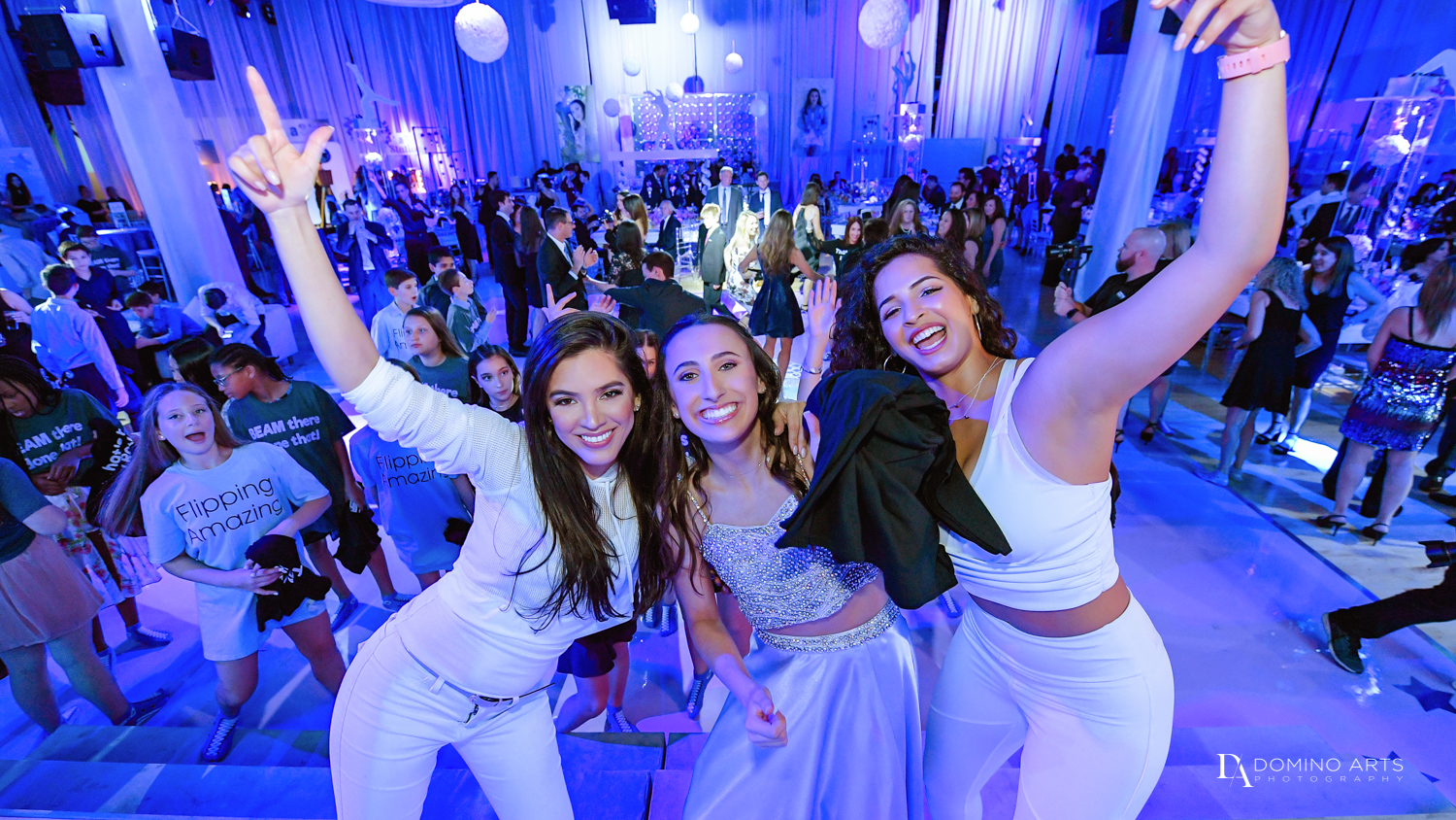 rock with u dancers at Gymnastics Theme Bat Mitzvah at Xtreme Action Park by Domino Arts