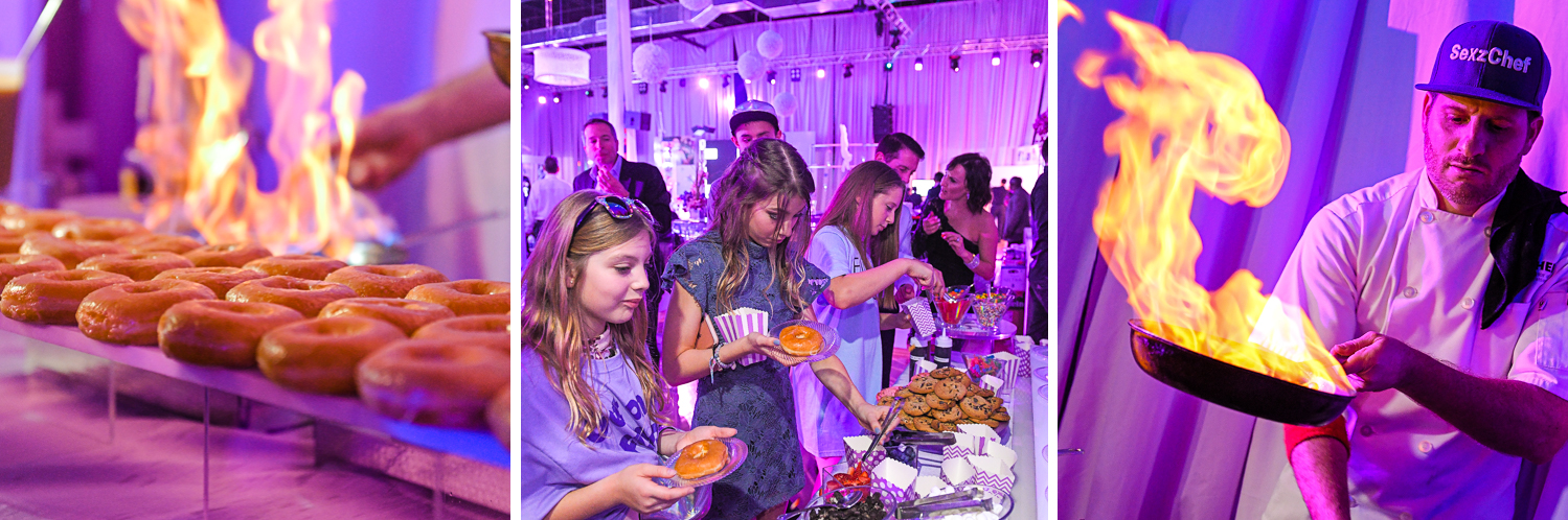 donuts dessert at Bat Mitzvah at Xtreme Action Park by Domino Arts