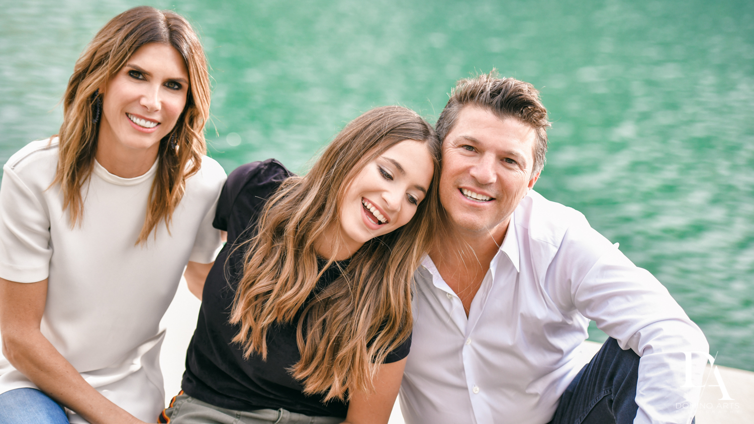 Parents at Waterfront Photo Session in Miami by Domino Arts Photography