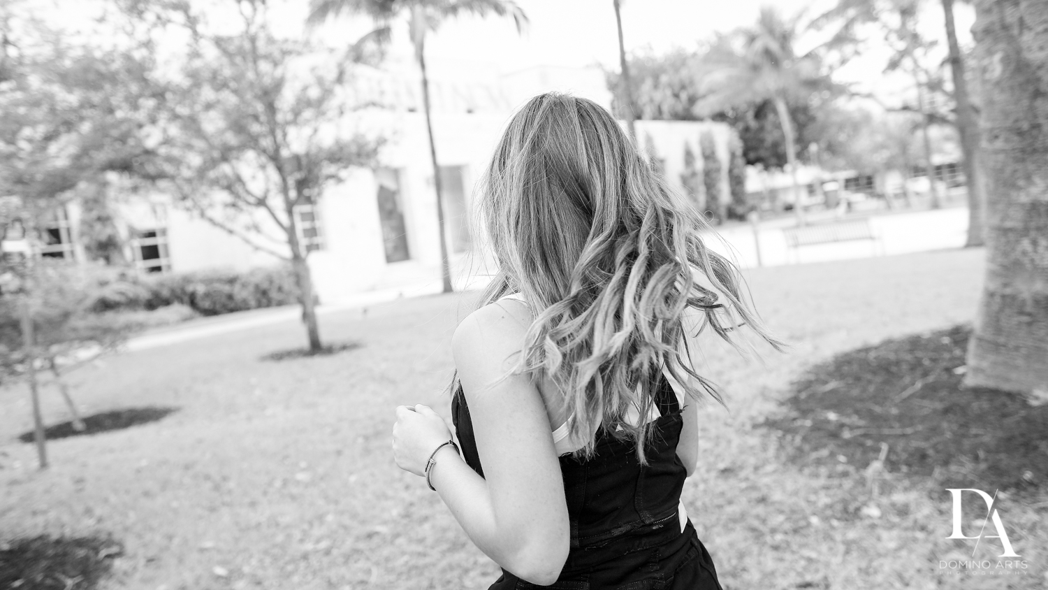 black and white Waterfront Photo Session in Miami by Domino Arts Photography