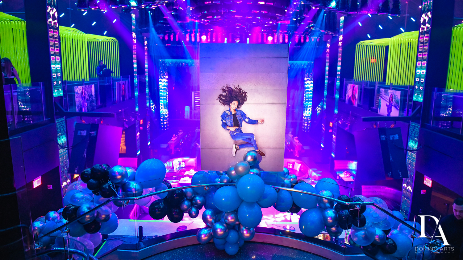 Amazing decor at Nightclub Bat Mitzvah at LIV in Fontainebleau Miami by Domino Arts Photography