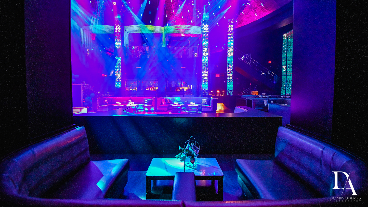 decor at Nightclub Bat Mitzvah at LIV in Fontainebleau Miami by Domino Arts Photography