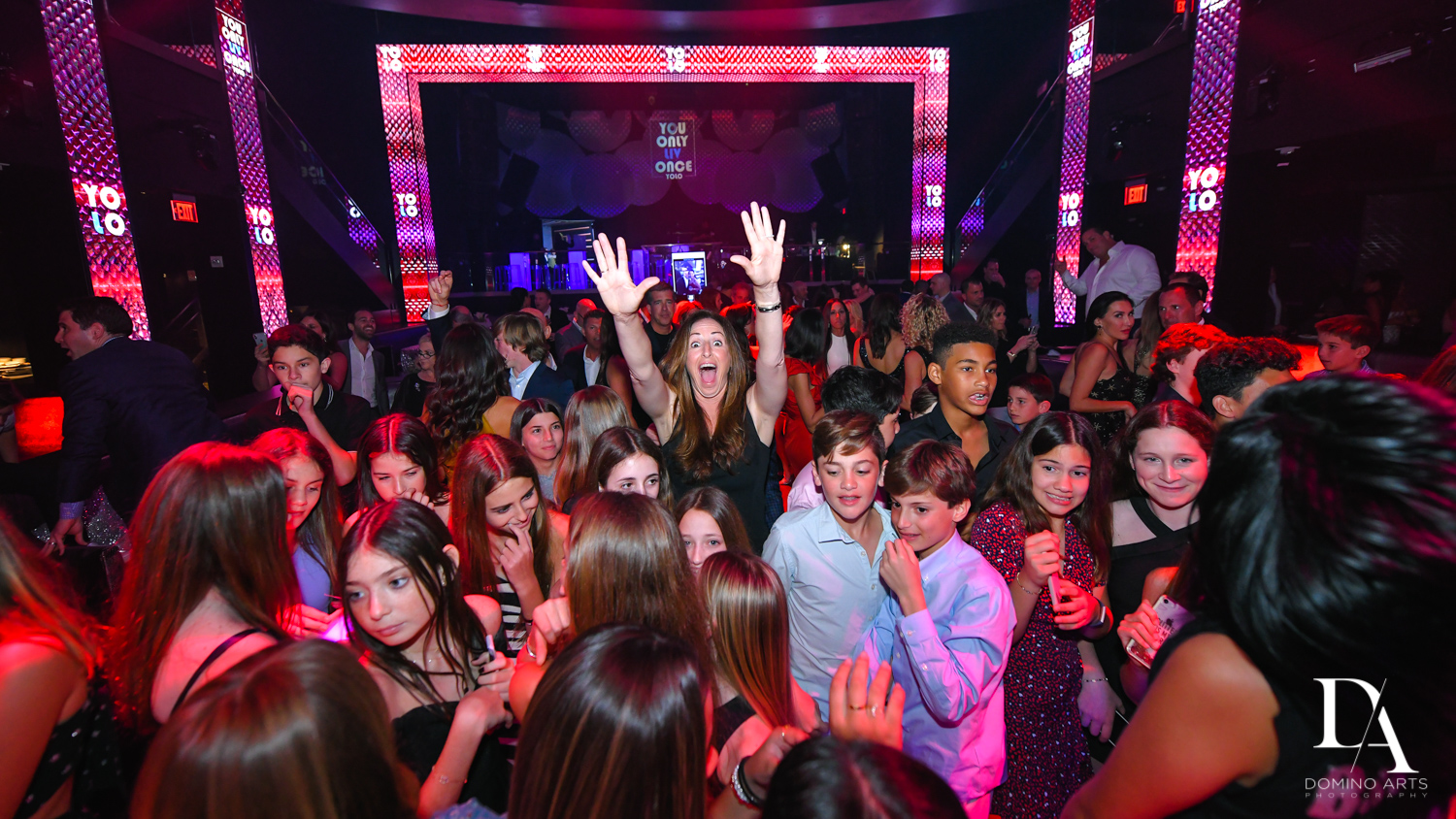 party pics at Nightclub Bat Mitzvah at LIV in Fontainebleau Miami by Domino Arts Photography
