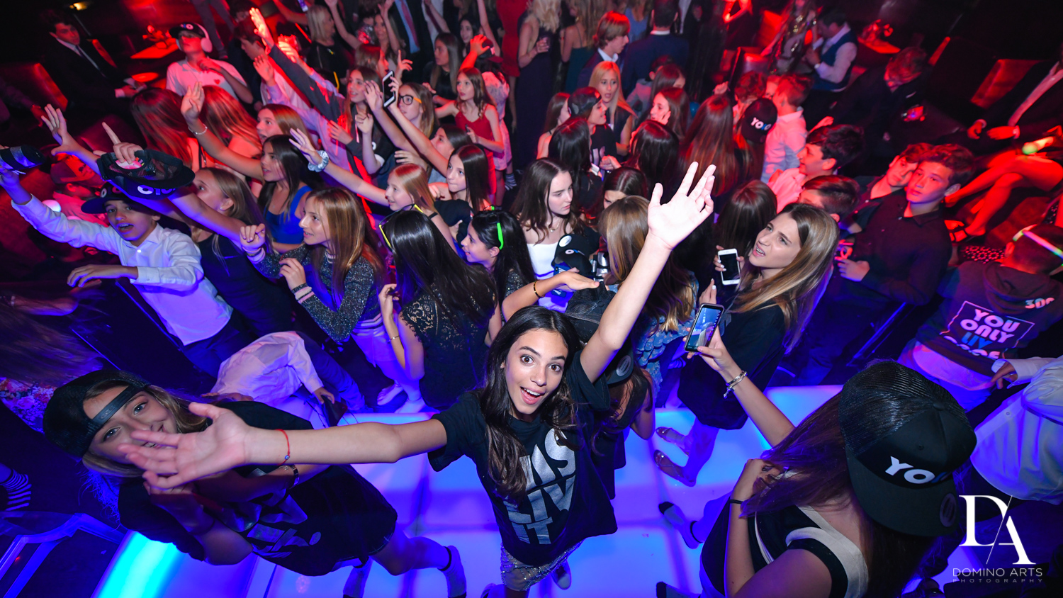 crowd picture at Nightclub Bat Mitzvah at LIV in Fontainebleau Miami by Domino Arts Photography
