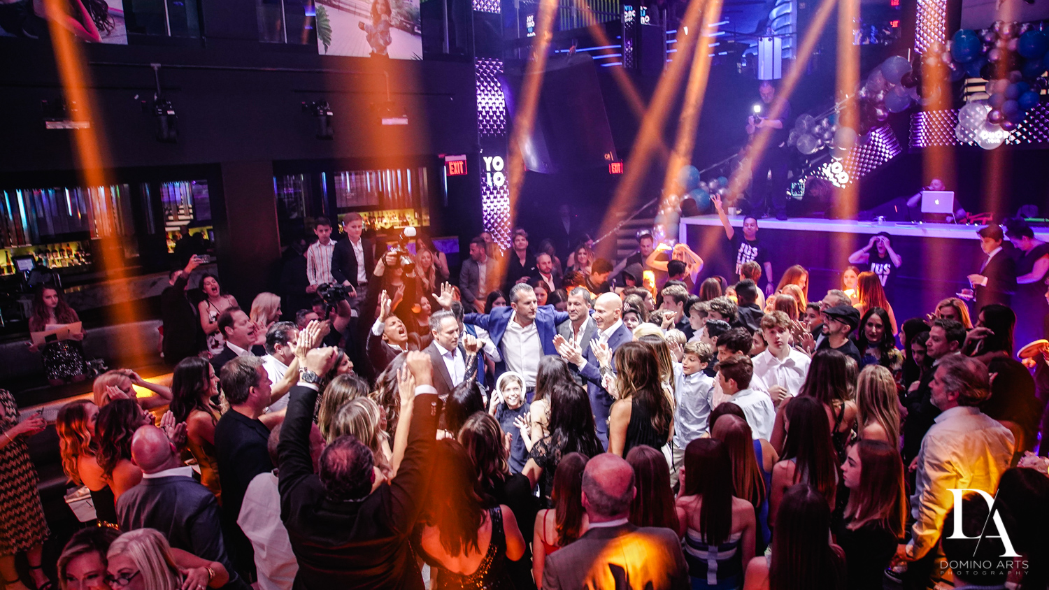 hora at Nightclub Bat Mitzvah at LIV in Fontainebleau Miami by Domino Arts Photography