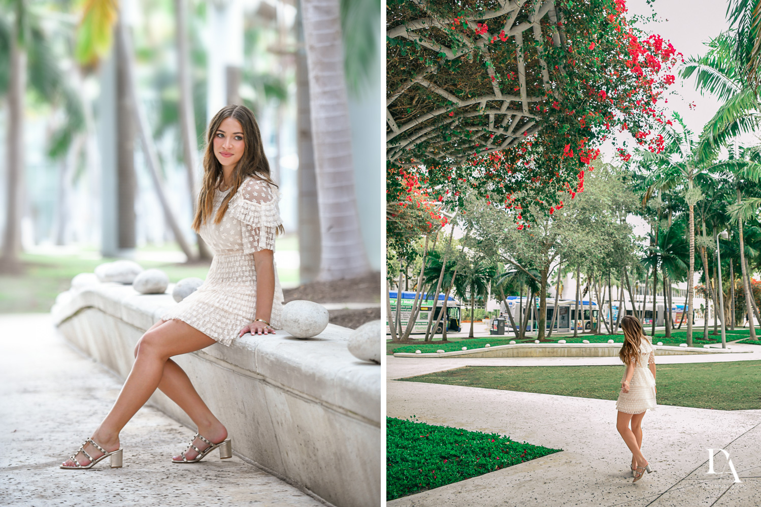 Pretty portraits at Luxurious Broadway Theme Bat Mitzvah at New World Symphony in Miami Beach by Domino Arts Photography