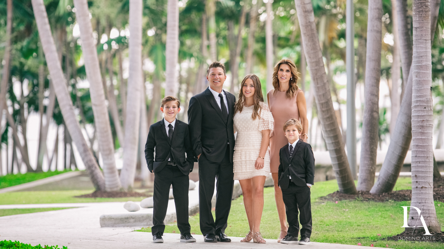 family pictures at Luxurious Broadway Theme Bat Mitzvah at New World Symphony in Miami Beach by Domino Arts Photography