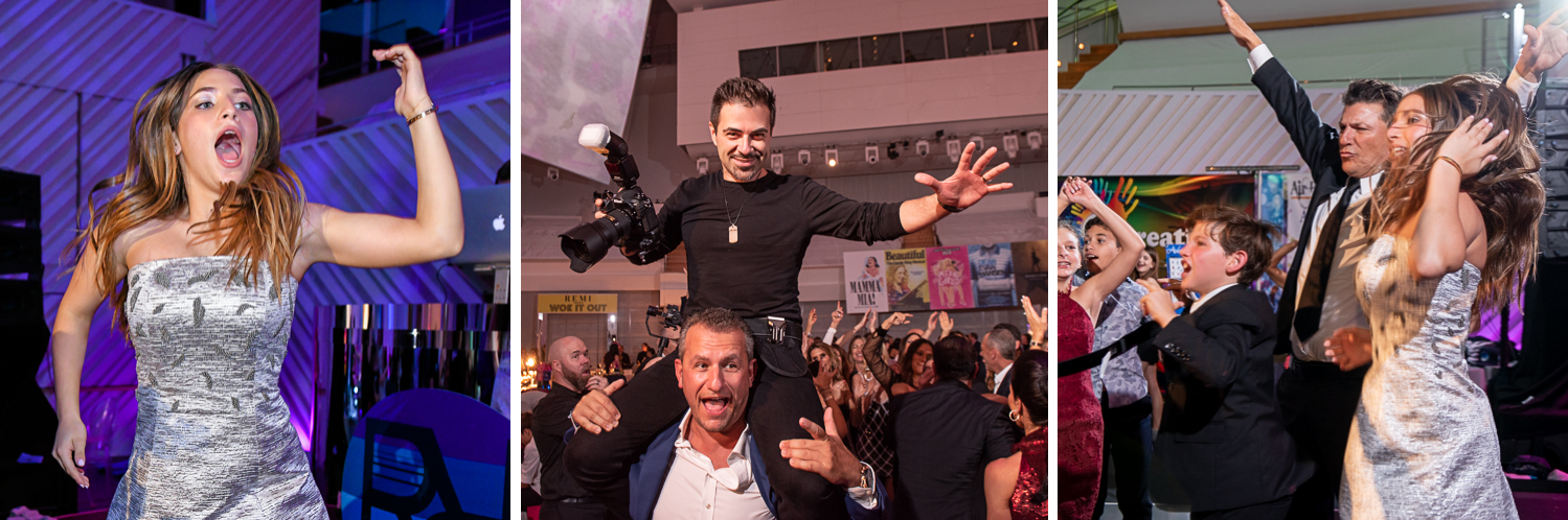 best photographer at Luxurious Broadway Theme Bat Mitzvah at New World Symphony in Miami Beach by Domino Arts Photography