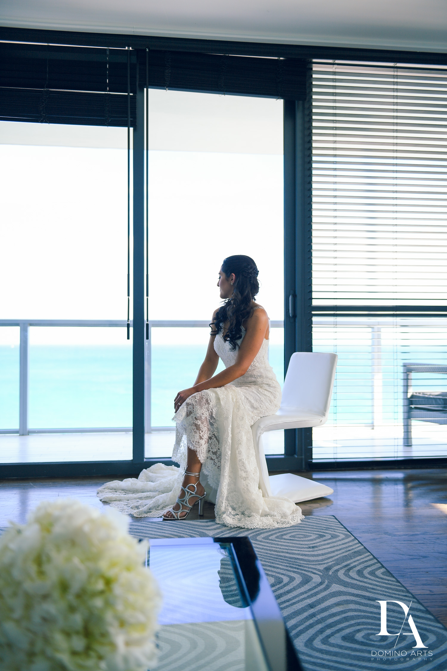 Bride getting ready at W Hotel Miami