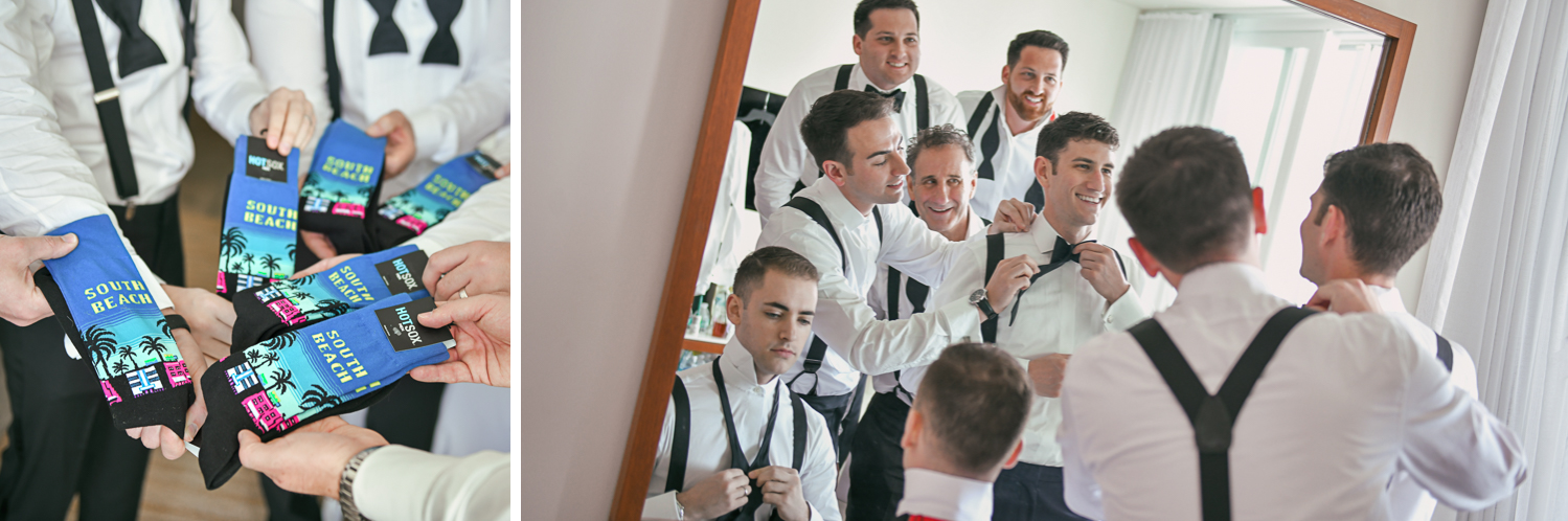 Fun Groomsmen getting ready at W Hotel Miami by Domino Arts