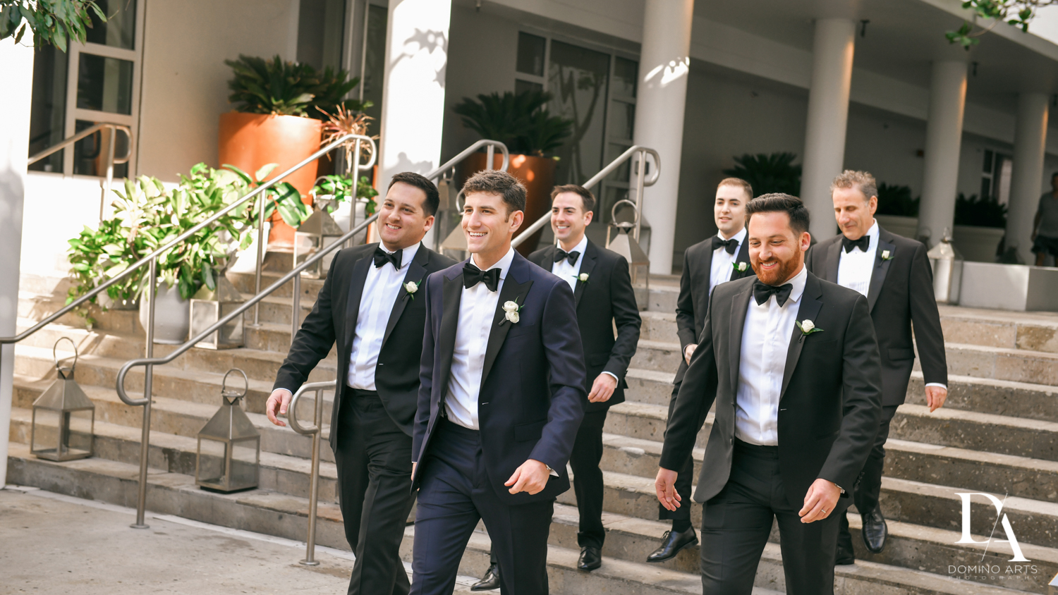 Groomsmen at W Hotel Miami