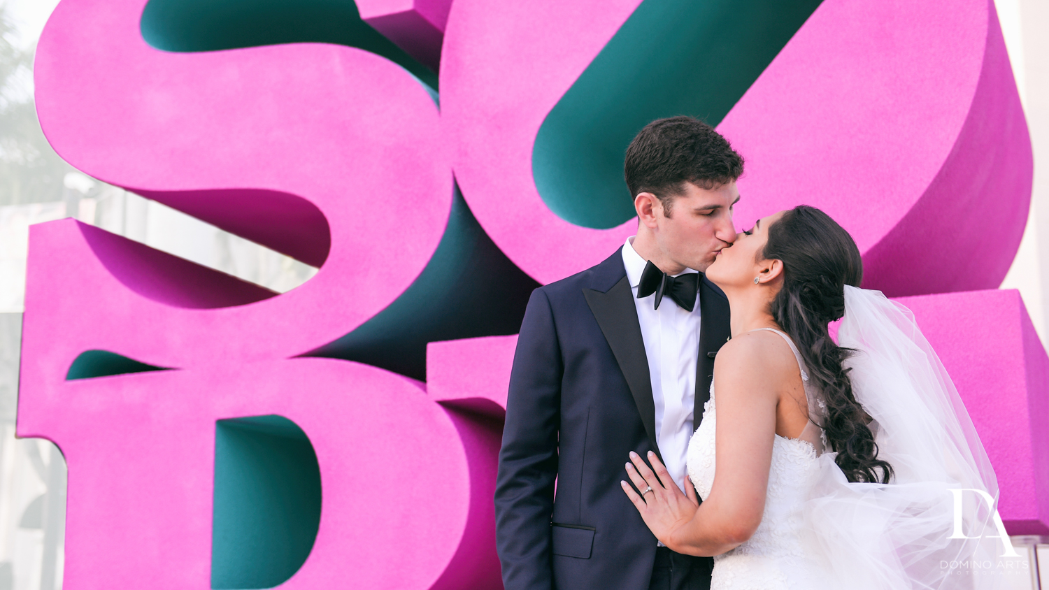 SOBE romantic portraits at Classic Miami Beach Wedding at Temple Emanu-El and Emanuel Luxury Venue by Domino Arts Photography