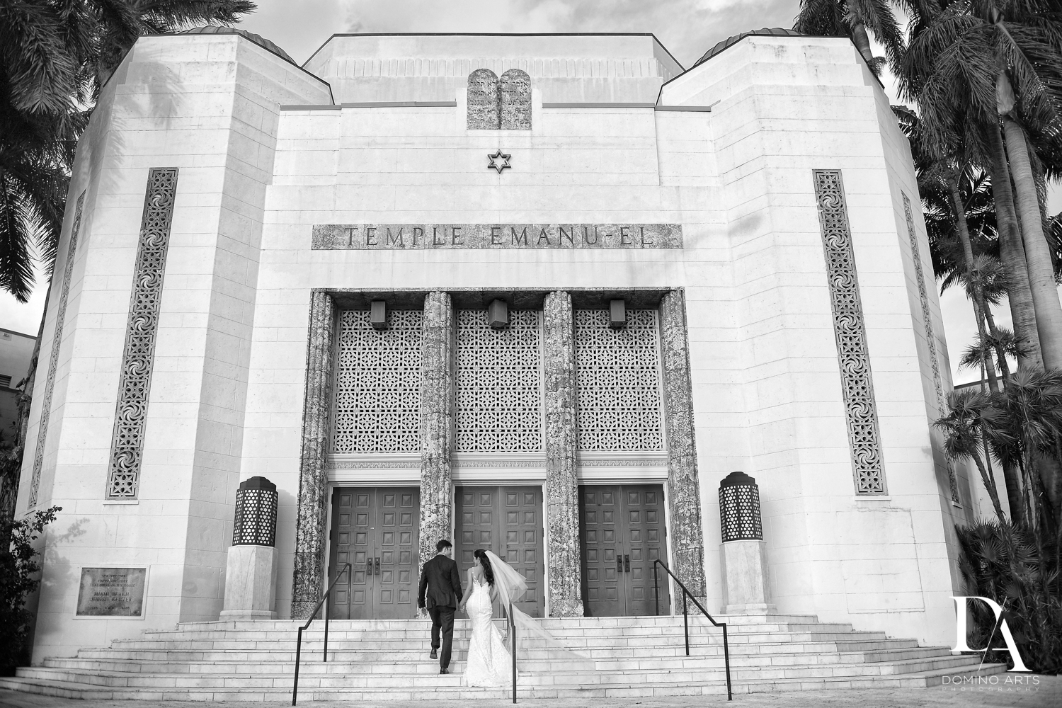 Classic Miami Beach Wedding at Temple Emanu-El and Emanuel Luxury Venue by Domino Arts Photography