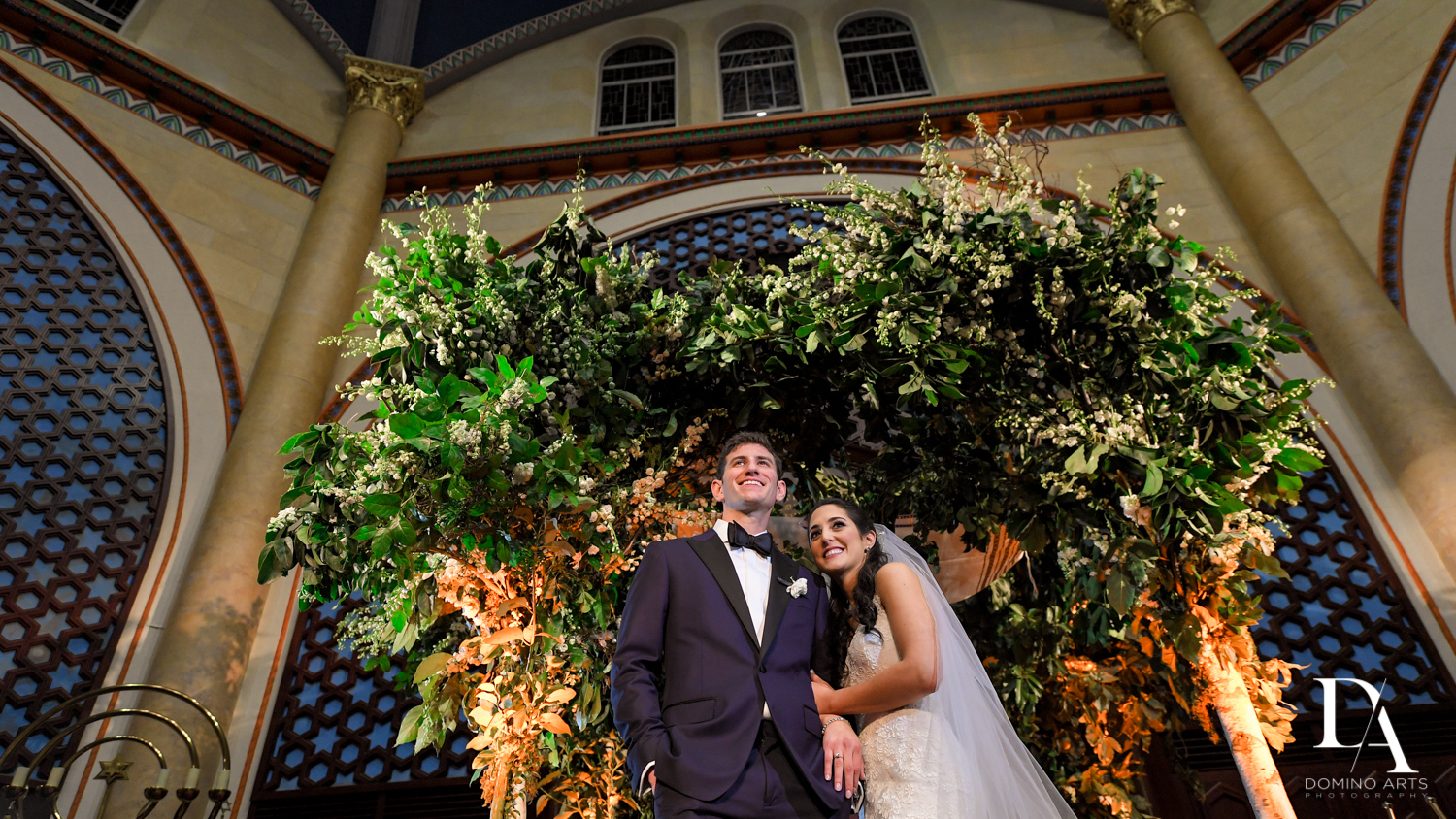 chuppah at Classic Miami Beach Wedding at Temple Emanu-El and Emanuel Luxury Venue by Domino Arts Photography