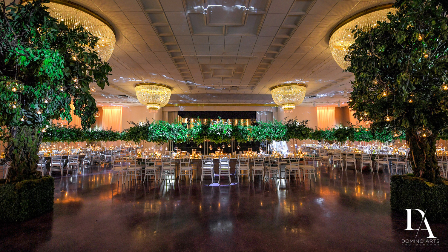 decor at Classic Miami Beach Wedding at Temple Emanu-El and Emanuel Luxury Venue by Domino Arts Photography