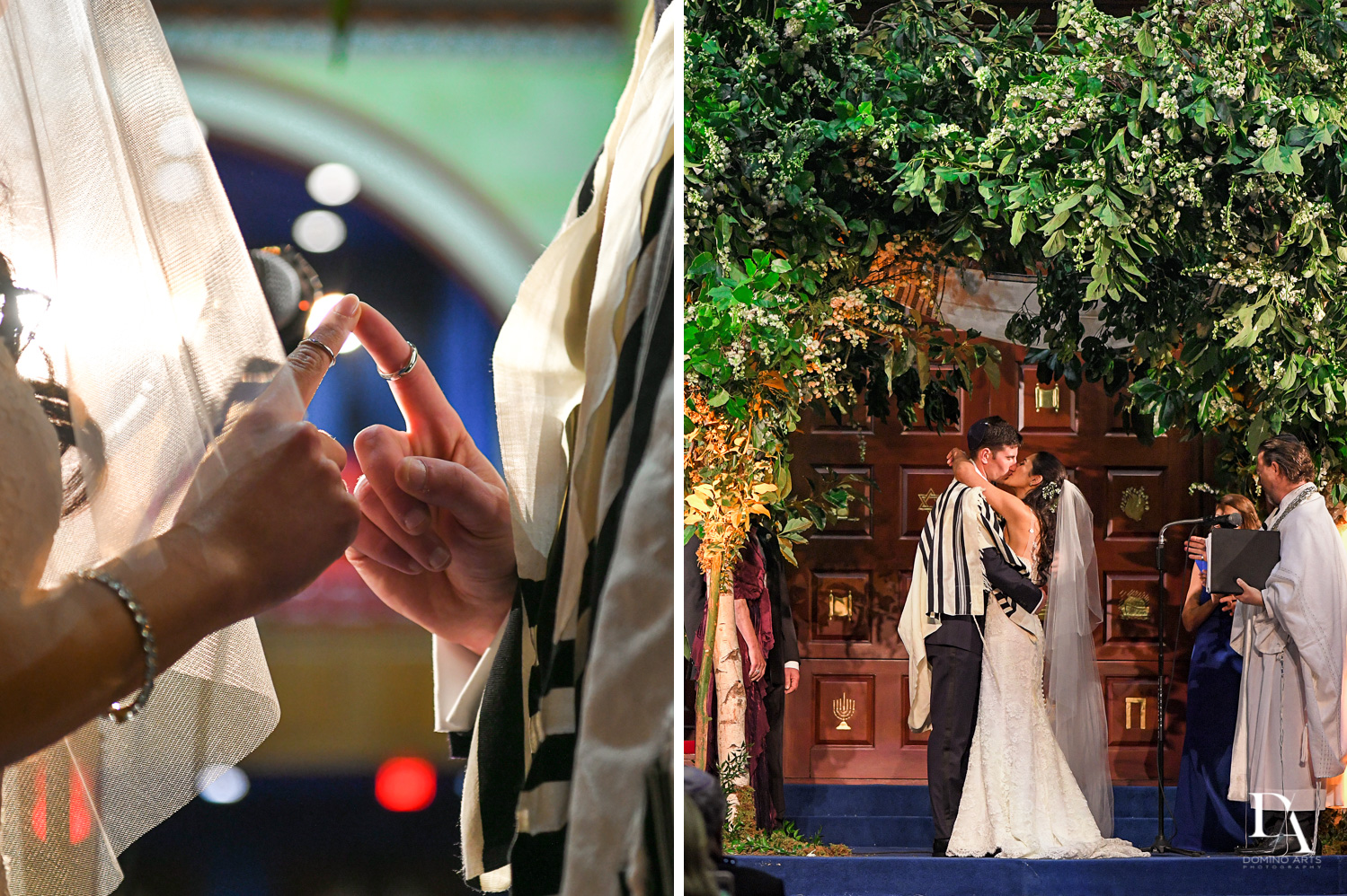jewish ceremony at Classic Miami Beach Wedding at Temple Emanu-El and Emanuel Luxury Venue by Domino Arts Photography
