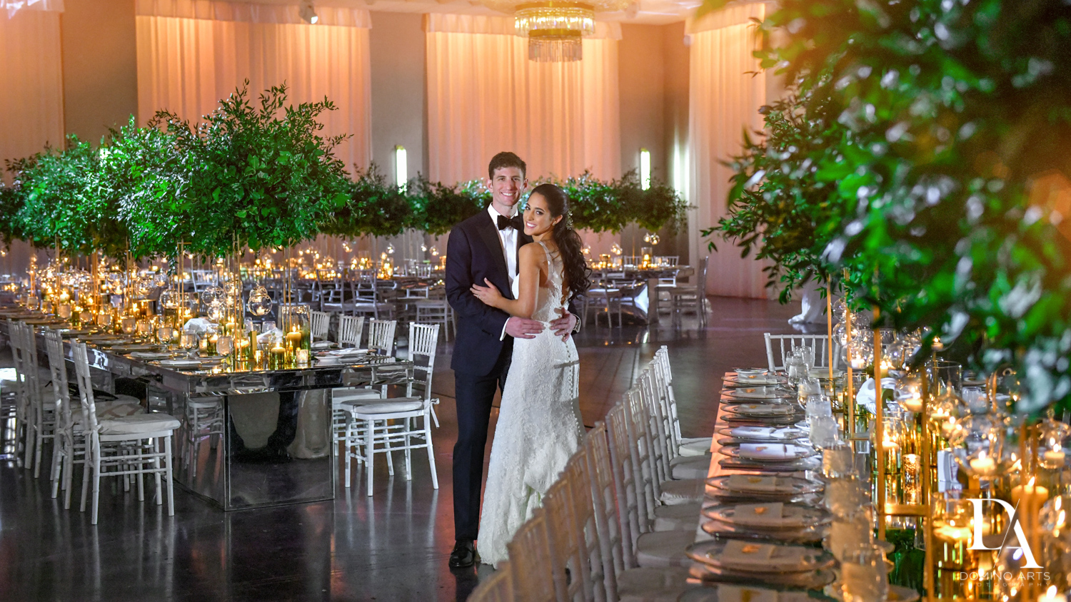 bride and groom at Classic Miami Beach Wedding at Temple Emanu-El and Emanuel Luxury Venue by Domino Arts Photography
