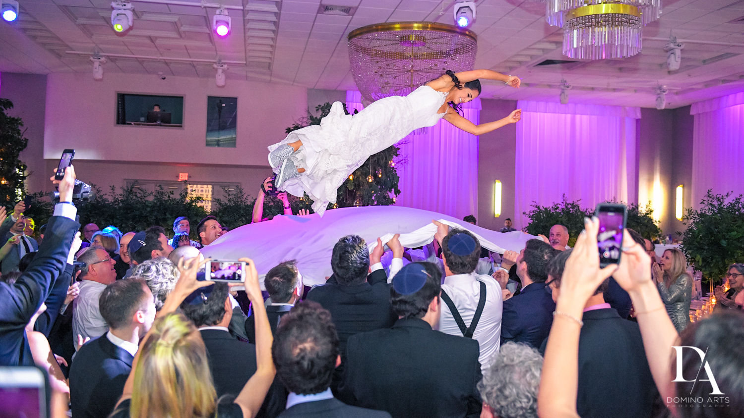 crazy fun party pictures at Classic Miami Beach Wedding at Temple Emanu-El and Emanuel Luxury Venue by Domino Arts Photography