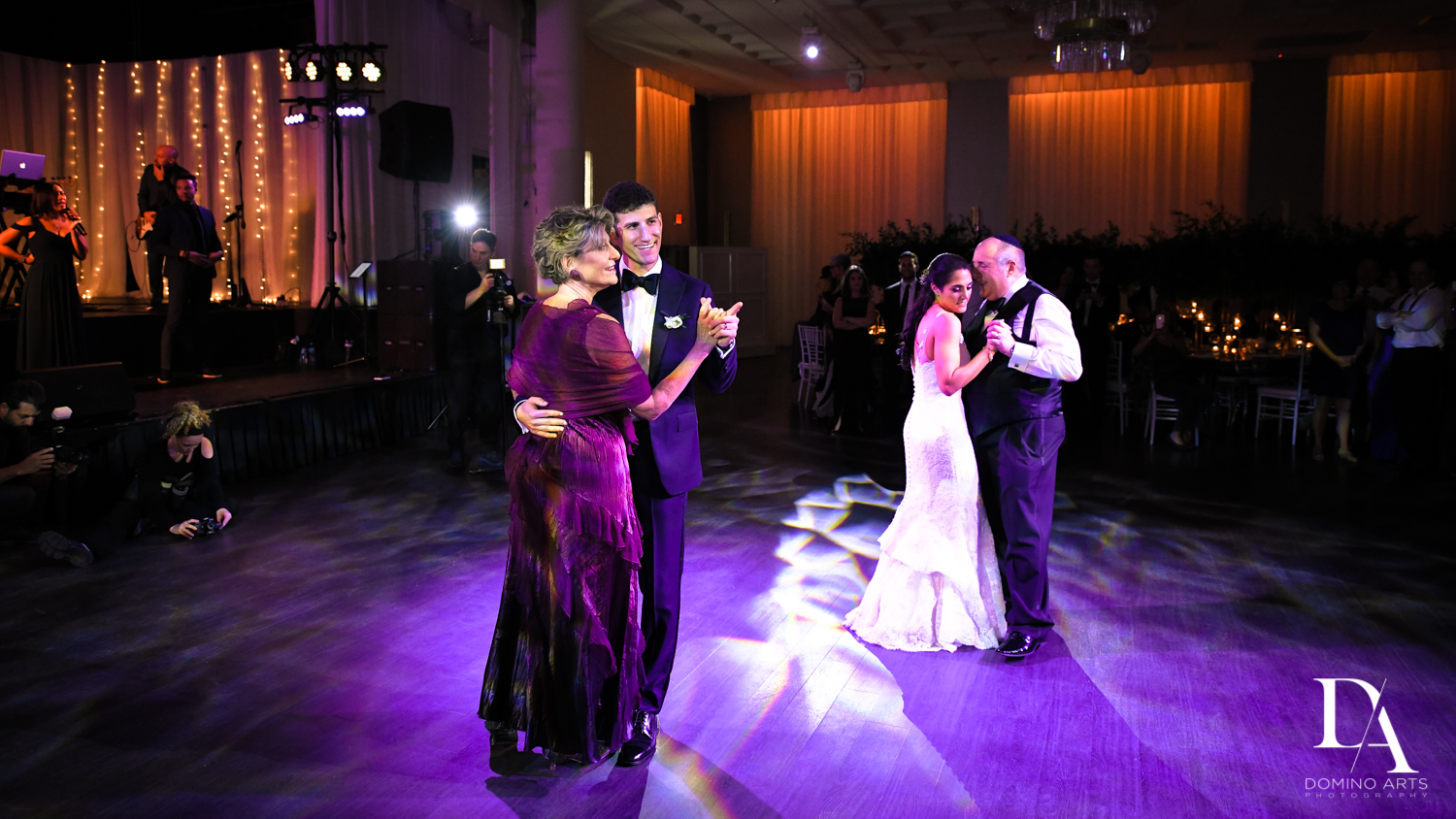 parent dance at Classic Miami Beach Wedding at Temple Emanu-El and Emanuel Luxury Venue by Domino Arts Photography