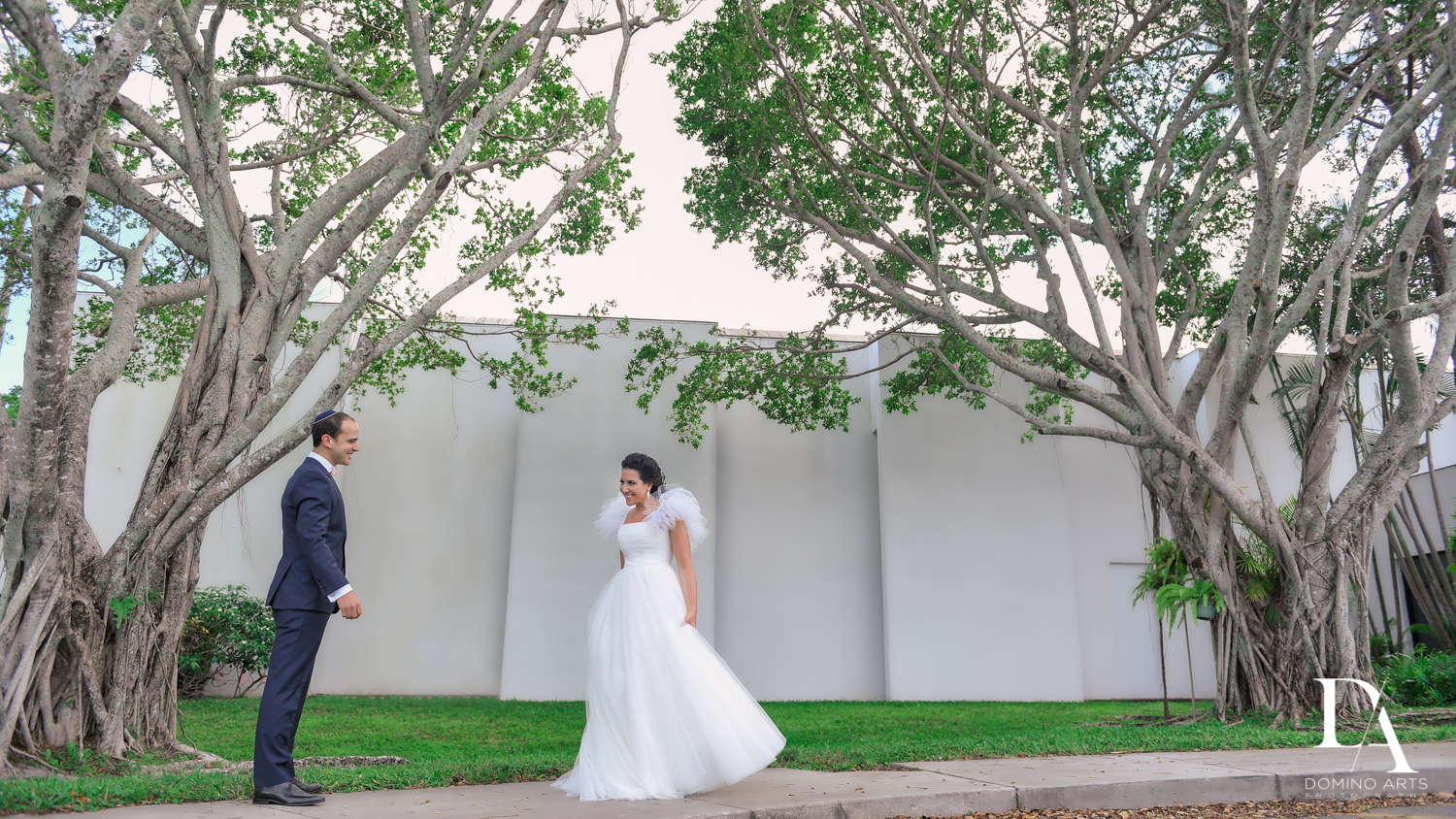 first look at Fairy-Tale Wedding at BNai Torah Boca Raton by Domino Arts Photography