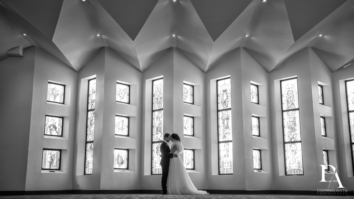 black and white at Fairy-Tale Wedding at BNai Torah Boca Raton by Domino Arts Photography