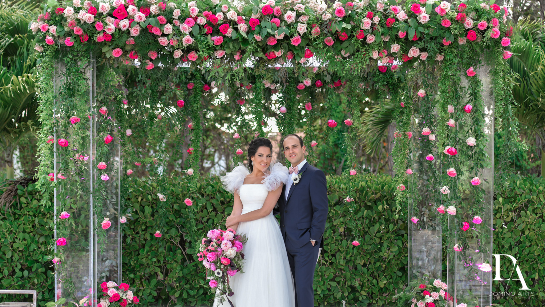 floral chuppah at Fairy-Tale Wedding at BNai Torah Boca Raton by Domino Arts Photography