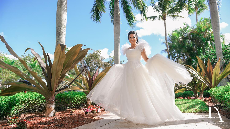 wedding dress at Fairy-Tale Wedding at BNai Torah Boca Raton by Domino Arts Photography