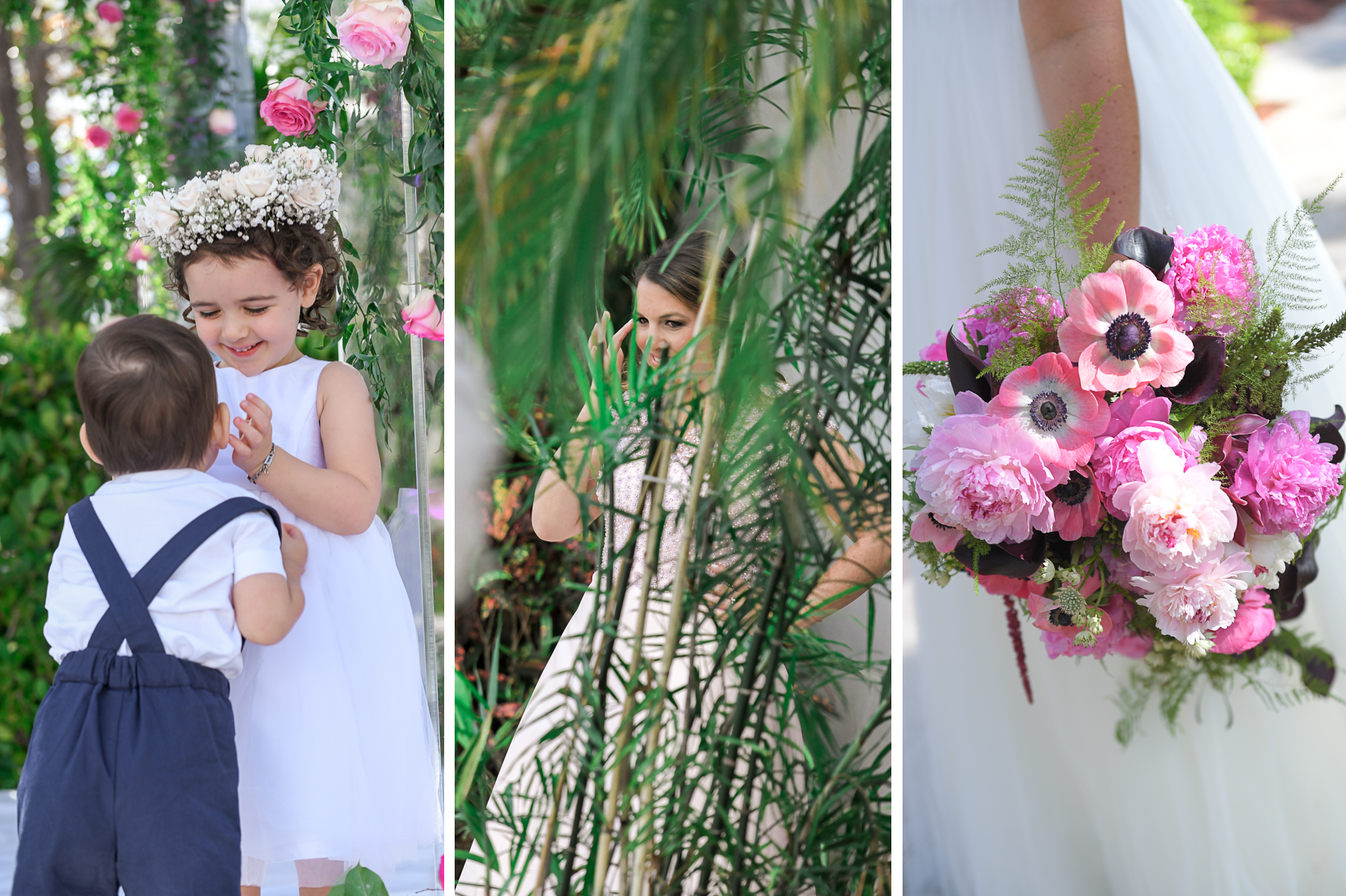 flower girl at Fairy-Tale Wedding at BNai Torah Boca Raton by Domino Arts Photography