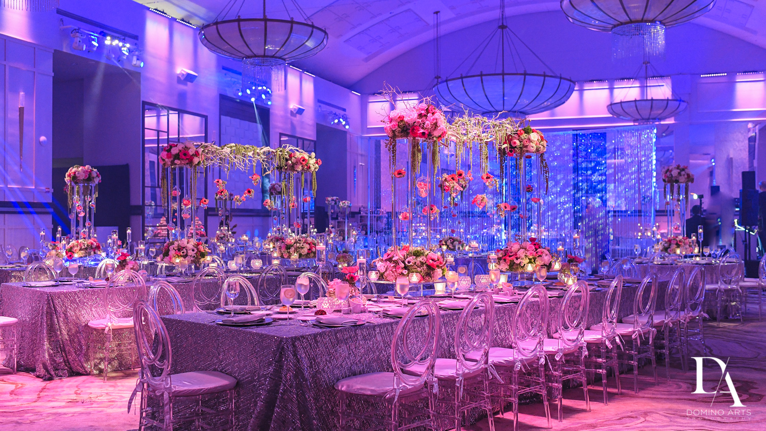 floral decor at Fairy-Tale Wedding at BNai Torah Boca Raton by Domino Arts Photography