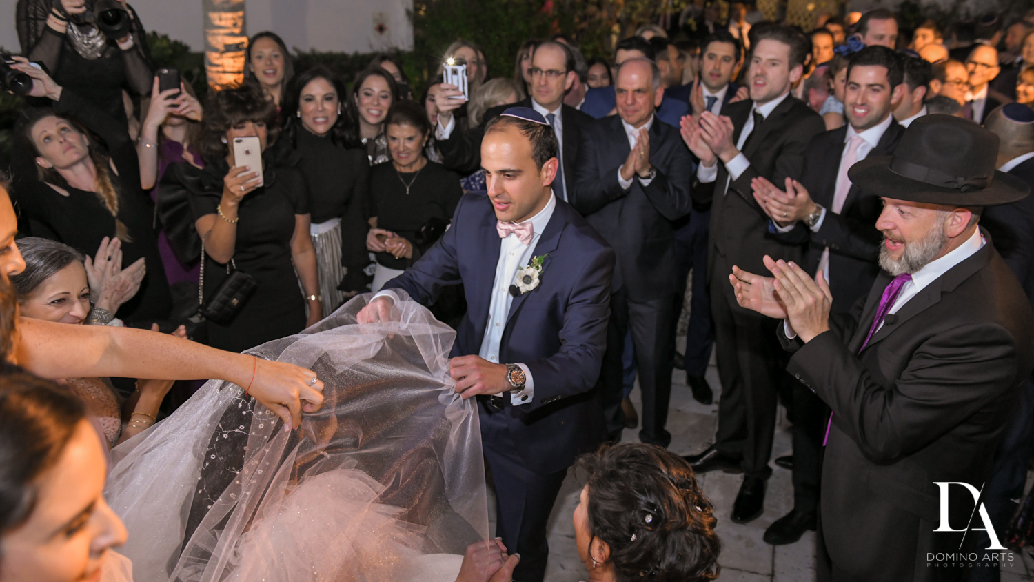 bedeken at Fairy-Tale Wedding at BNai Torah Boca Raton by Domino Arts Photography