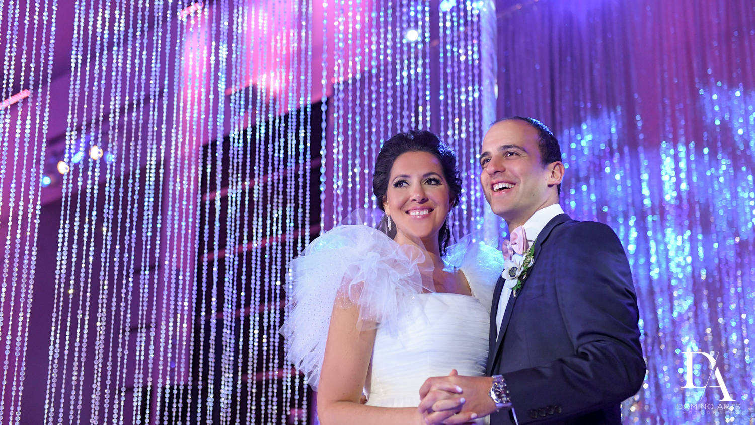 bride and groom portrait at Fairy-Tale Wedding at BNai Torah Boca Raton by Domino Arts Photography