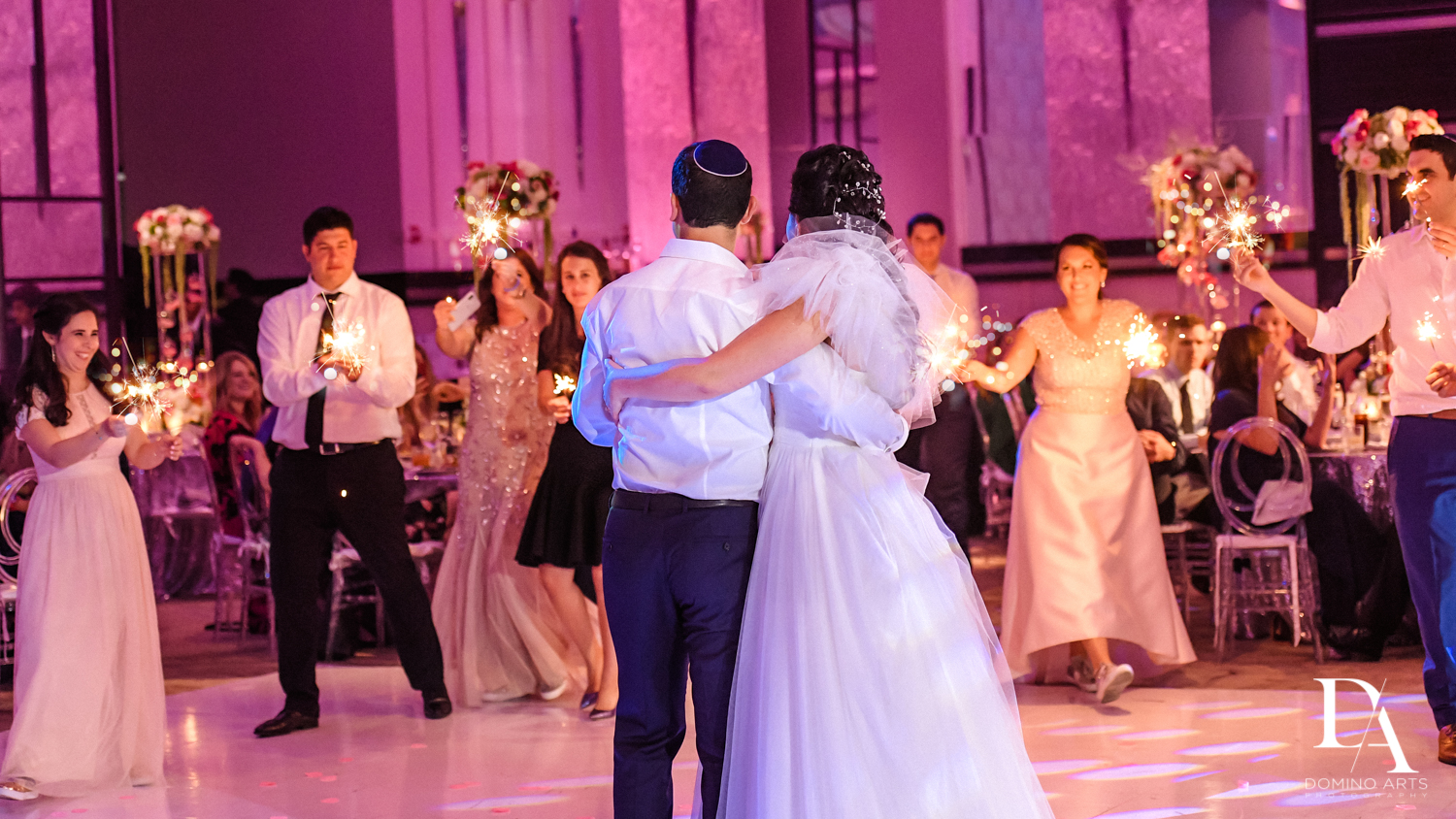 party photos at Fairy-Tale Wedding at BNai Torah Boca Raton by Domino Arts Photography