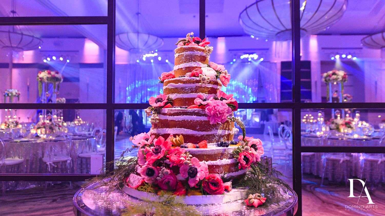 trending wedding cake at Fairy-Tale Wedding at BNai Torah Boca Raton by Domino Arts Photography