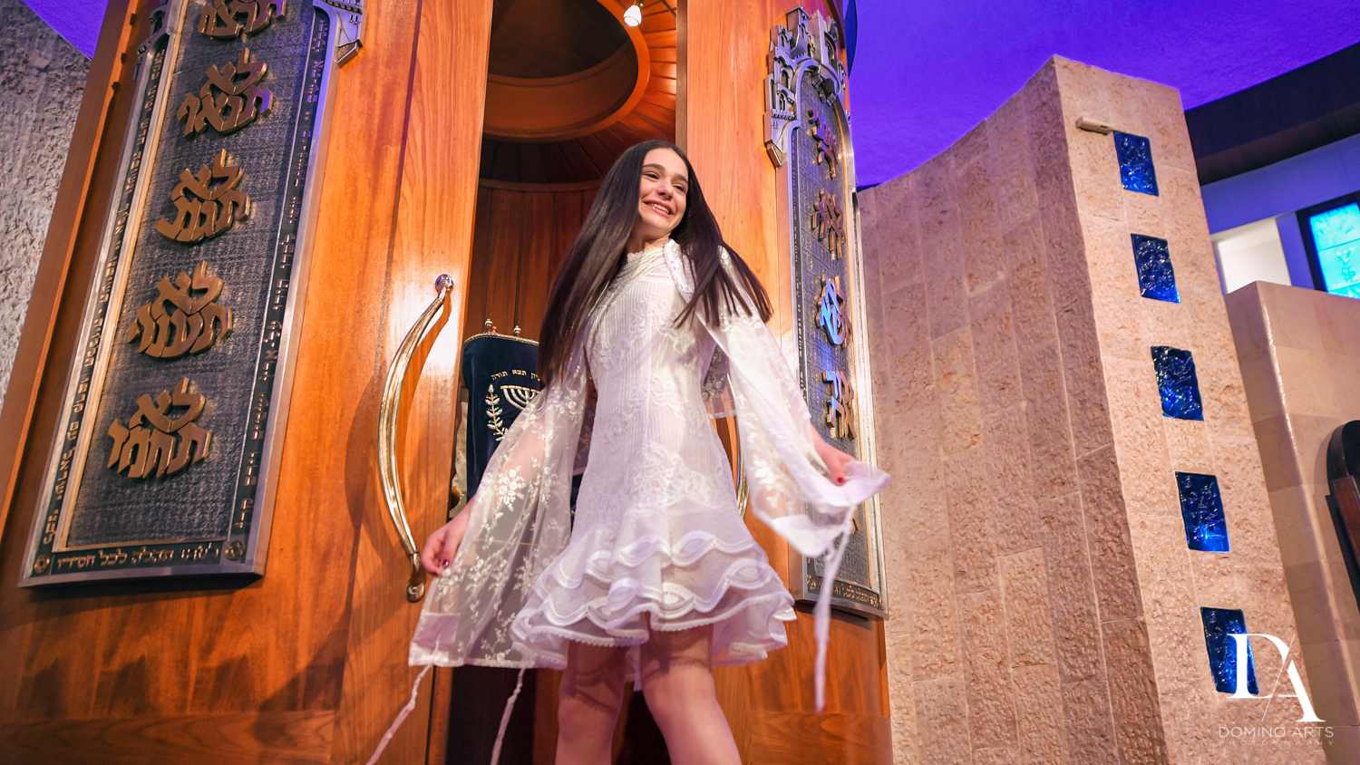 fun portrait at Luxury Celebrity Bat Mitzvah at Four Seasons Hotel Miami by Domino Arts Photography
