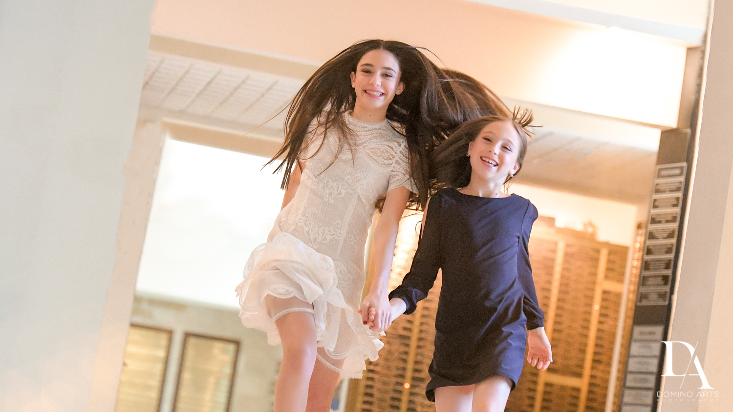 fun sisters at Luxury Celebrity Bat Mitzvah at Four Seasons Hotel Miami by Domino Arts Photography