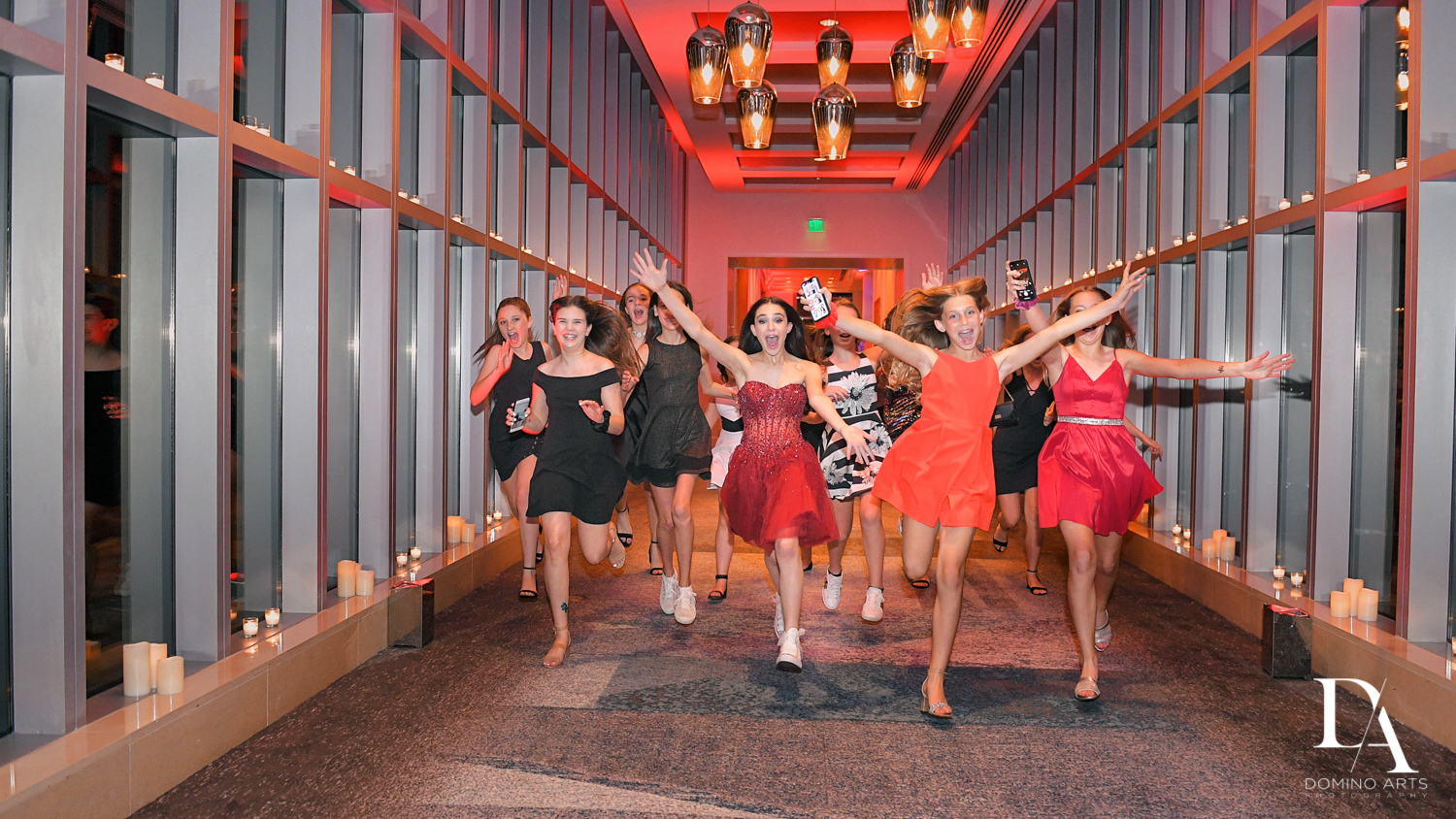 fun girls at Luxury Celebrity Bat Mitzvah at Four Seasons Hotel Miami by Domino Arts Photography