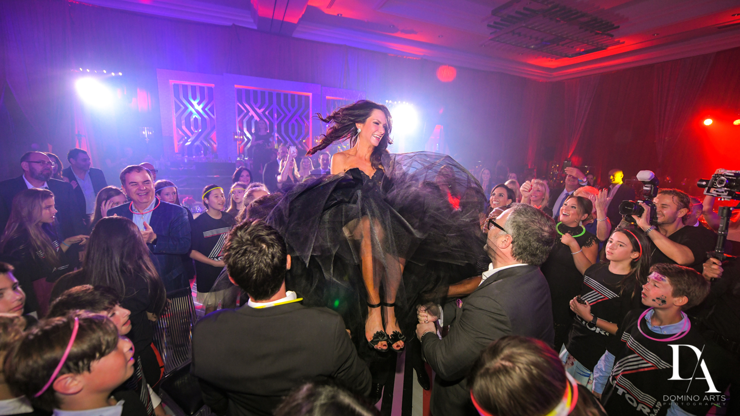 hora at Luxury Celebrity Bat Mitzvah at Four Seasons Hotel Miami by Domino Arts Photography
