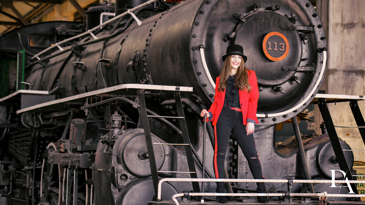 Greatest Showman themed Bat Mitzvah Pre Session at Goldcoast Railroad Museum by Domino Arts Photography