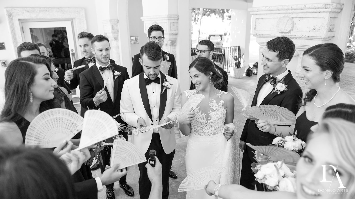 kettubah signing at Tropical Garden Wedding at Fisher Island Miami by Domino Arts Photography