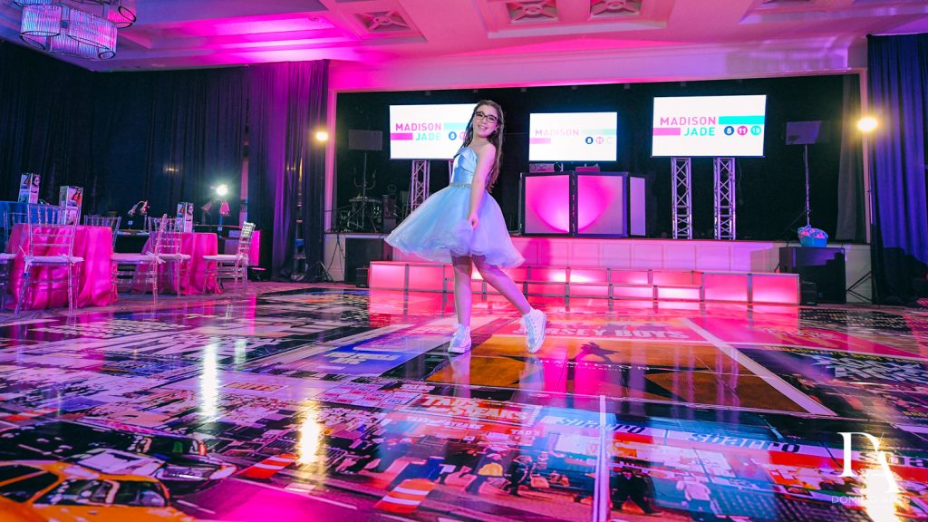 portrait at New York Theme Bat Mitzvah at Woodfield Country Club, Boca Raton by Domino Arts Photography
