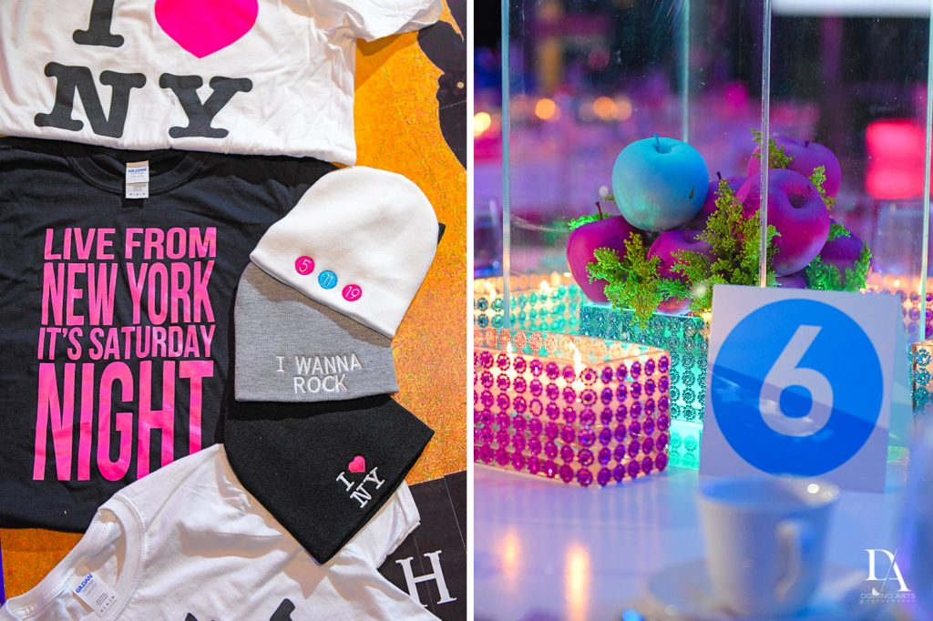 party favors at New York Theme Bat Mitzvah at Woodfield Country Club, Boca Raton by Domino Arts Photography