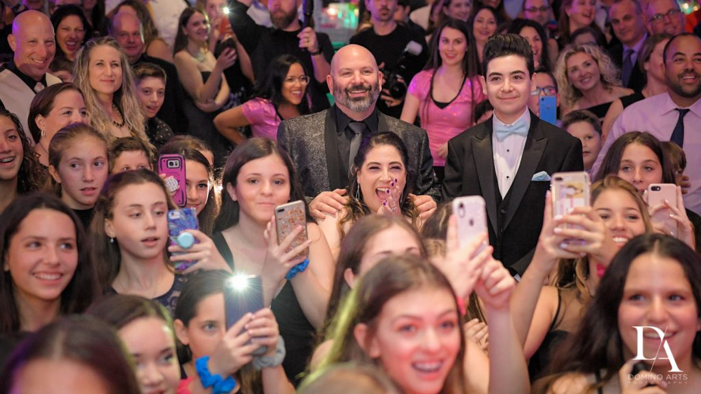 fun party pics at New York Theme Bat Mitzvah at Woodfield Country Club, Boca Raton by Domino Arts Photography