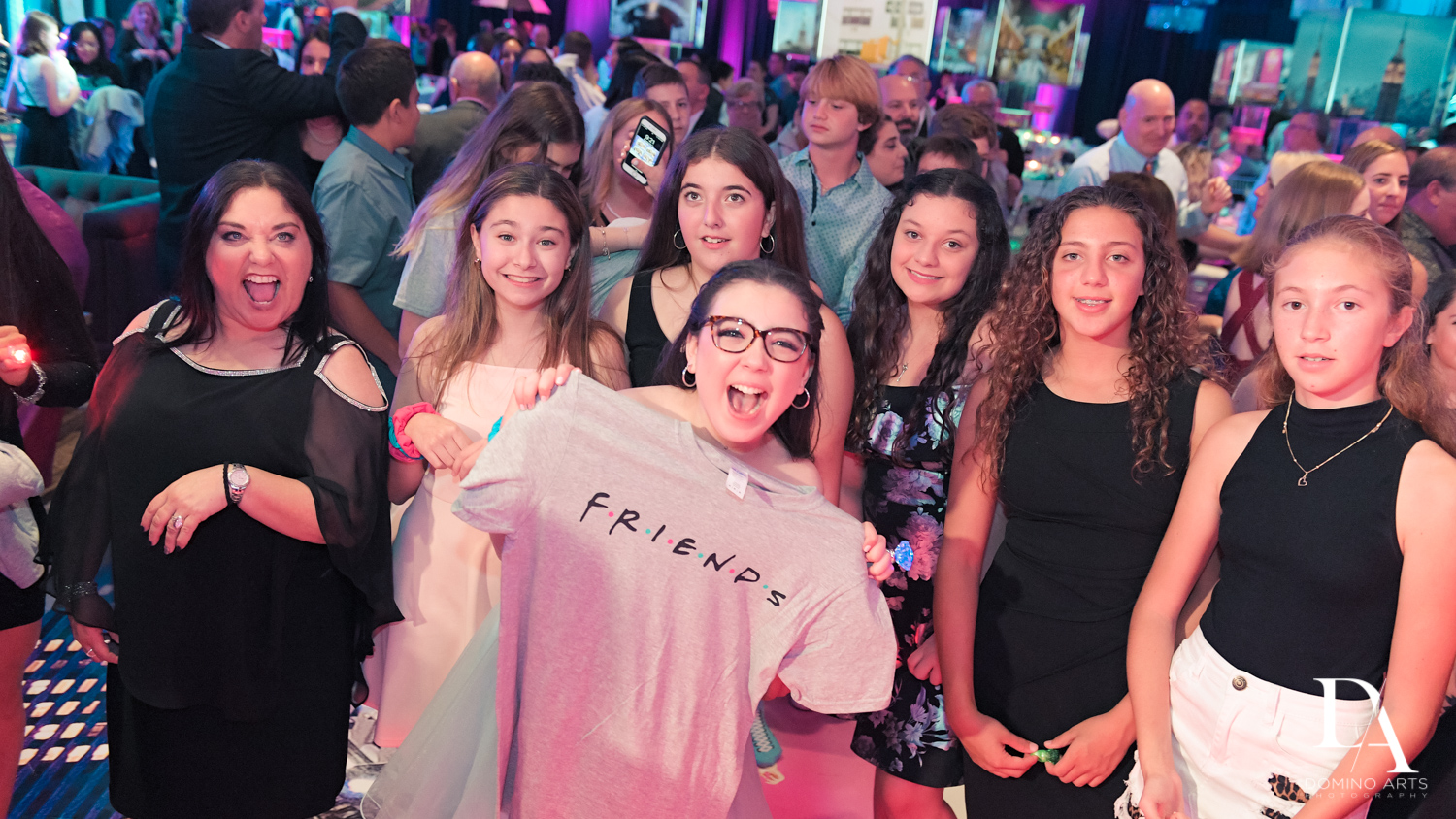 Friends Tshirt at New York Theme Bat Mitzvah at Woodfield Country Club, Boca Raton by Domino Arts Photography