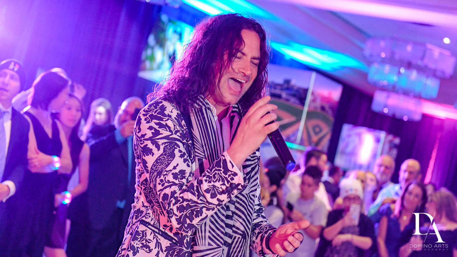 Constantine Maroulis Ameican Idol at New York Theme Bat Mitzvah at Woodfield Country Club, Boca Raton by Domino Arts Photography