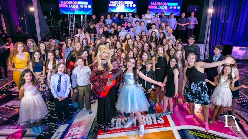 party fun at New York Theme Bat Mitzvah at Woodfield Country Club, Boca Raton by Domino Arts Photography