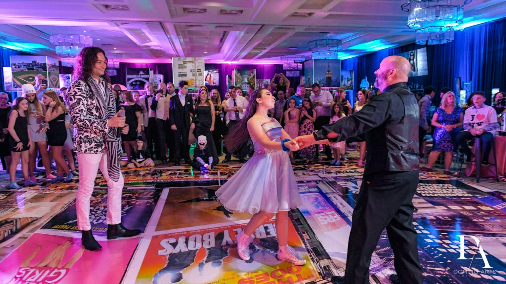 father daughter dance at New York Theme Bat Mitzvah at Woodfield Country Club, Boca Raton by Domino Arts Photography