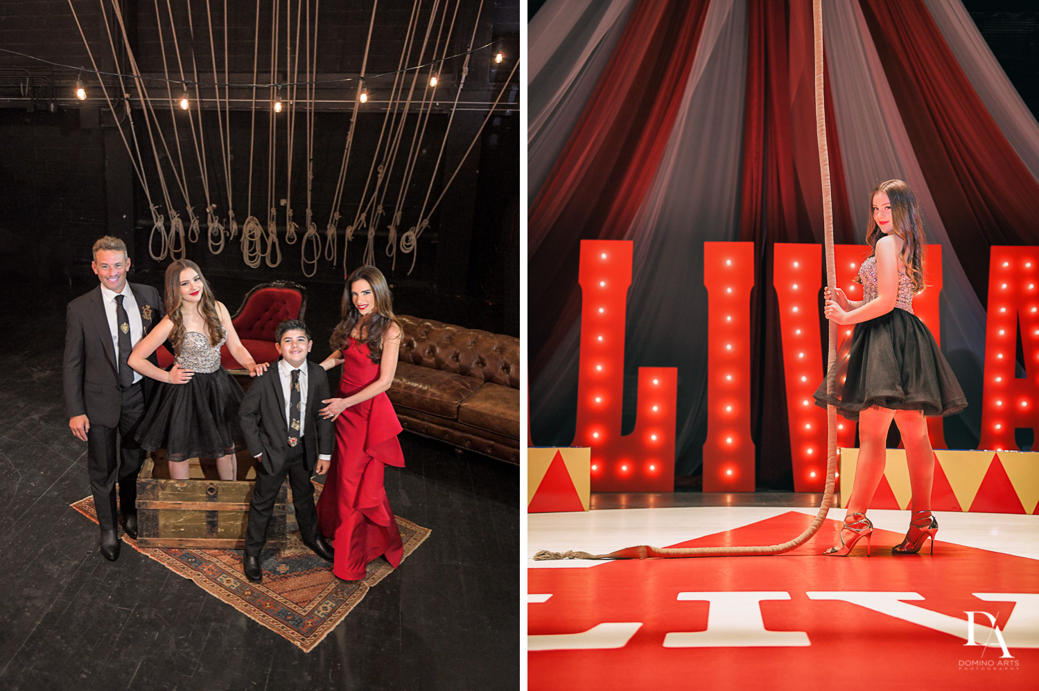 best pictures from The Greatest Showman theme Bat Mitzvah at the filmore miami by Domino Arts Photography
